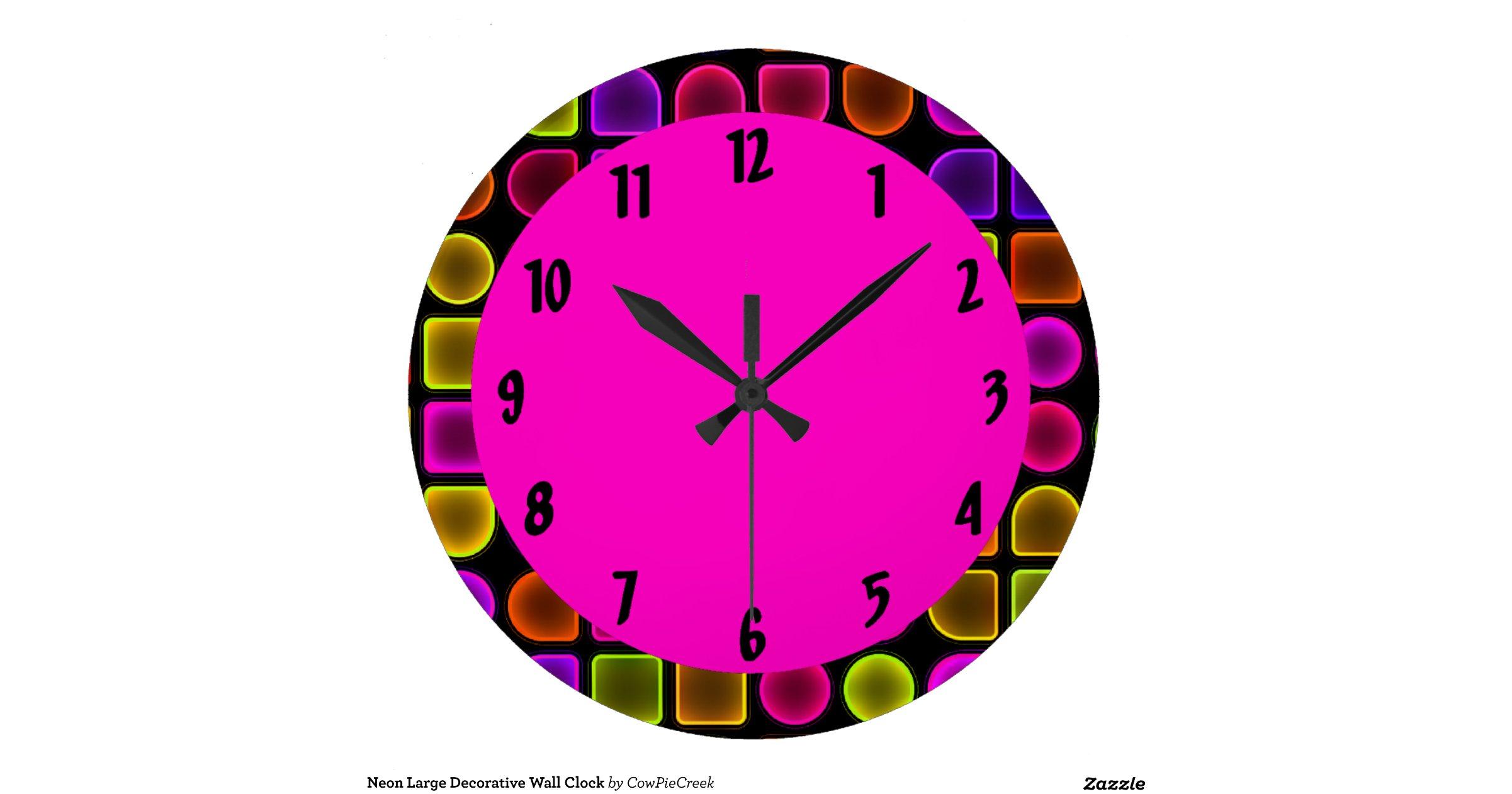 Neon Large Decorative Wall Clock Rcde20a3c456d49bfa4b3b7462c563a36 Fup13 8byv