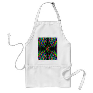 Neon Laser Light Psychedelic Abstract Adult Apron