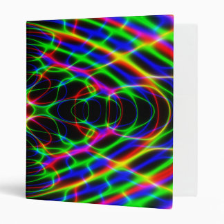 Neon Laser Light Psychedelic Abstract Binders