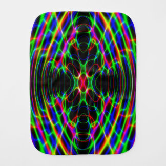 Neon Laser Light Psychedelic Abstract Burp Cloths