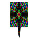 Neon Laser Light Psychedelic Abstract Cake Pick