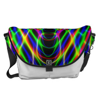 Neon Laser Light Psychedelic Abstract Courier Bag