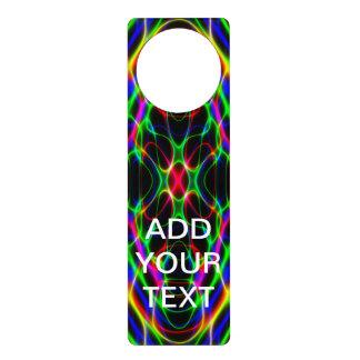 Neon Laser Light Psychedelic Abstract Door Knob Hanger