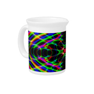 Neon Laser Light Psychedelic Abstract Drink Pitcher