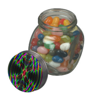 Neon Laser Light Psychedelic Abstract Glass Jars