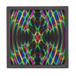 Neon Laser Light Psychedelic Abstract Jewelry Box