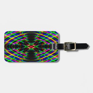 Neon Laser Light Psychedelic Abstract Tags For Luggage