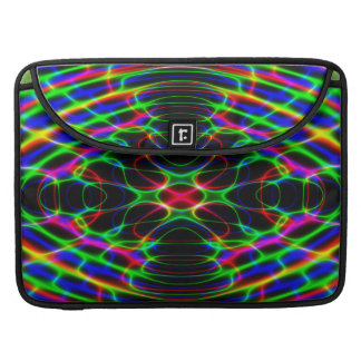 Neon Laser Light Psychedelic Abstract MacBook Pro Sleeves