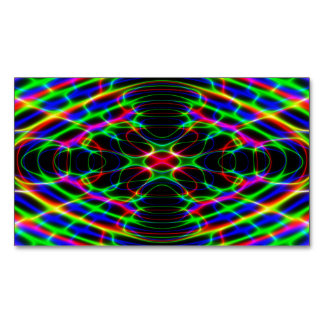 Neon Laser Light Psychedelic Abstract Magnetic Business Card