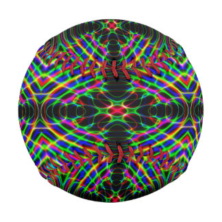Neon Laser Light Psychedelic Abstract Baseballs