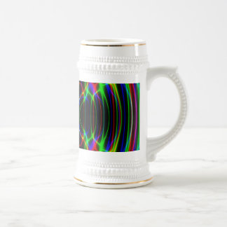 Neon Laser Light Psychedelic Abstract Mug