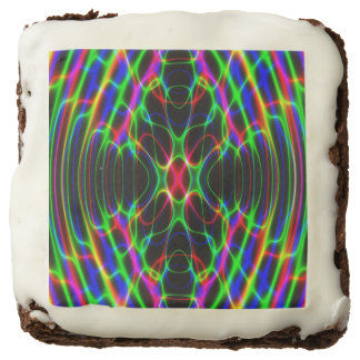 Neon Laser Light Psychedelic Abstract Square Brownie