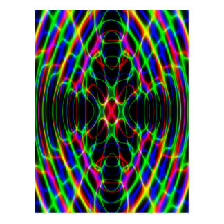 Neon Laser Light Psychedelic Abstract Postcard