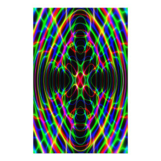 Neon Laser Light Psychedelic Abstract Stationery