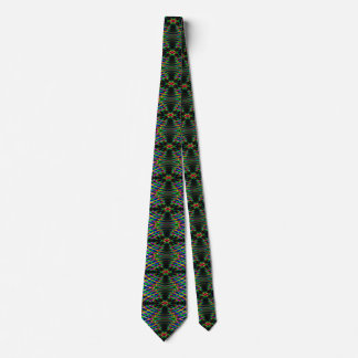 Neon Laser Light Psychedelic Abstract Tie