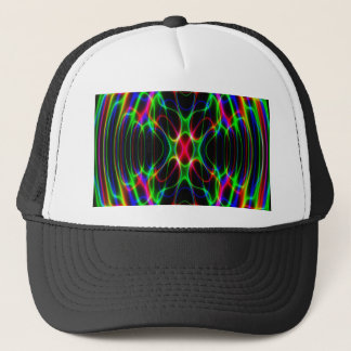 Neon Laser Light Psychedelic Abstract Trucker Hat