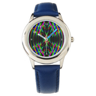 Neon Laser Light Psychedelic Abstract Watch