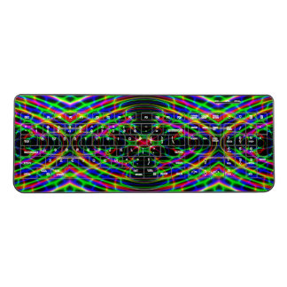 Neon Laser Light Psychedelic Abstract Wireless Keyboard