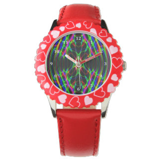 Neon Laser Light Psychedelic Abstract Wrist Watch