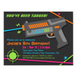 Neon Laser Tag Birthday Party Invitations at Zazzle