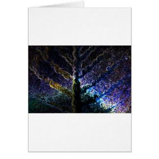 Neon Leaf Card