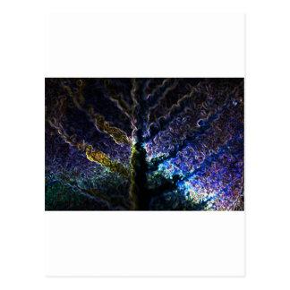 Neon Leaf Postcard
