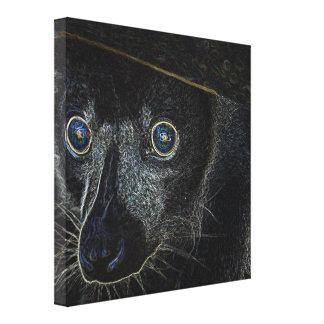 Neon Lemur Stretched Canvas Prints