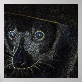 Neon Lemur Posters