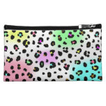 Neon Leopard Print Cosmetics Bag Cosmetic Bags