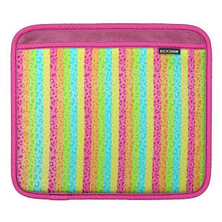 Neon Leopard Print iPad Case MacBook Air Sleeves