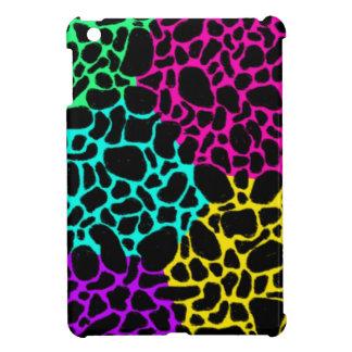neon leopard print iPad mini cover
