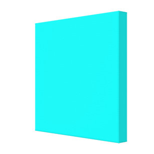 Neon Light Blue Hex Code 00ffff Canvas Print