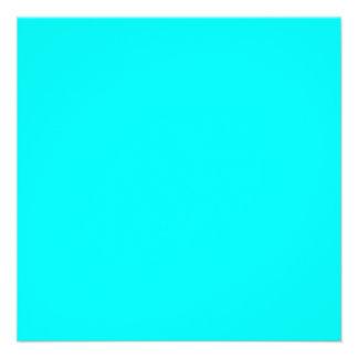 Neon light blue hex code 00ffff personalized announcements