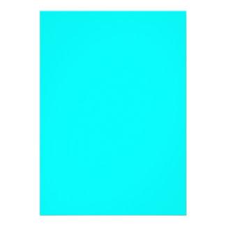 Neon light blue hex code 00ffff personalized invites