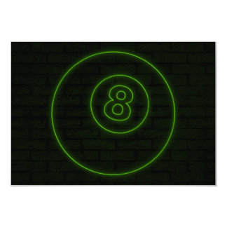 neon light eightball card