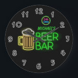 "Neon Light Private Home Personalized Bar Clock<br><div class=""desc"">Please be aware that this is not a real neon light that glows in the dark but it&#39;s still pretty cool!</div>"