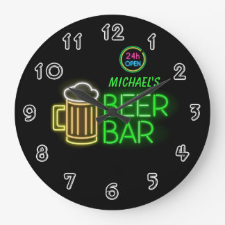 Neon Light Private Home Personalized Bar Clock