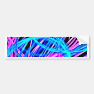 Neon light show, pink blue bumper stickers