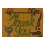 Neon Light Thank You Greeting Cards