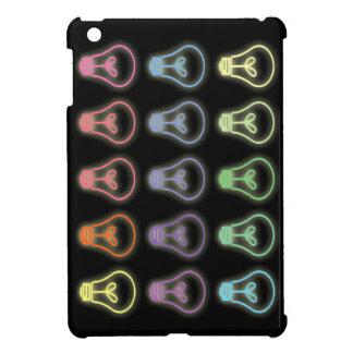 Neon lightbulb pattern mini ipad case