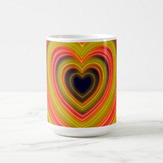Neon Lighted Girly Heart Design Coffee Mug