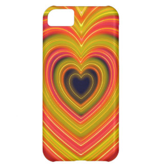 Neon Lighted Girly Heart Design Cover For iPhone 5C