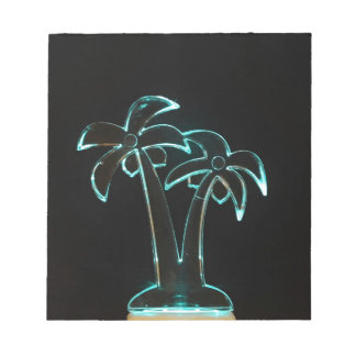 Neon Lighted Tropical Palm Trees Image Notepads