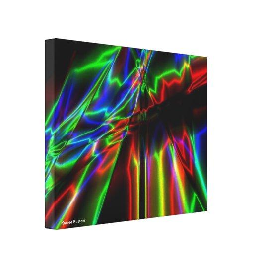 Neon Lightning Canvas Print