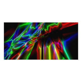 Neon Lightning Customized Photo Card