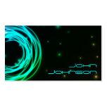 Neon Lights circles business card