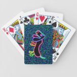 Neon Lights Dachshund Bicycle Playing Cards