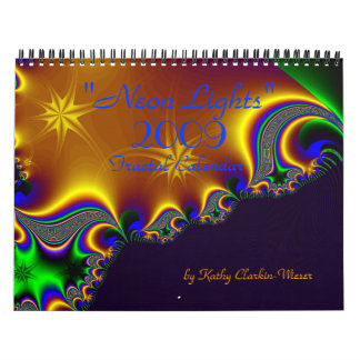 """""""Neon Lights"""" Fractal Calendar - Customized"""