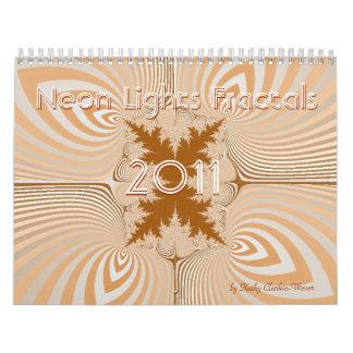 Neon Lights Fractals 2011 Calendar