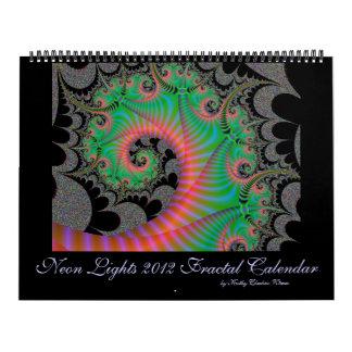 Neon Lights Fractals Calendar